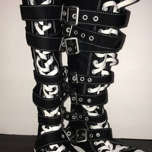 fbd3c6e1095 Converse Shoes - Converse Rare Vegan Knee High Shoes with Buckles